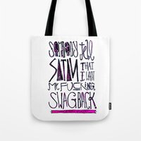 splatter Tote Bags featuring Splatter by Matt Smiroldo
