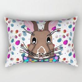 Easter Bunny Easter Eggs Rectangular Pillow