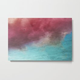 under a cotton candy cloud Metal Print