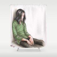 loki Shower Curtains featuring Loki in prison by CaptBexx