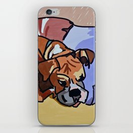 Abby Rests Boxer Dog Portrait iPhone Skin