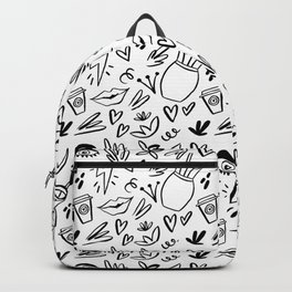 Trendy abstract design. Doodle style. Backpack
