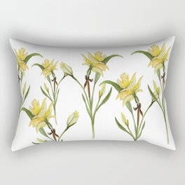 Daffodil- watercolor  Rectangular Pillow