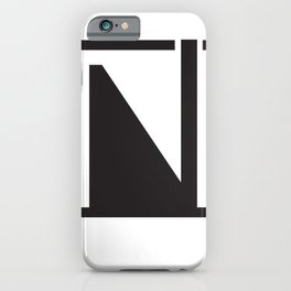 Geometric Abstract black minimal  iPhone Case