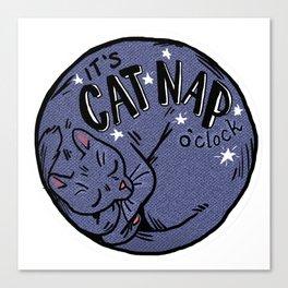 Cat Nap o'Clock Canvas Print