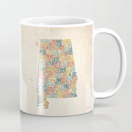 Alabama by County Coffee Mug