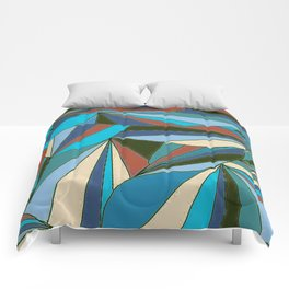 blues in triangle pattern Comforters