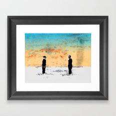 Walt vs Gus Framed Art Print