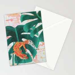 Abstract Leopard Gecko Stationery Cards