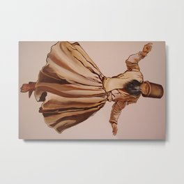 The Remembrance of Allah - A Sufi Whirling Dervish Metal Print