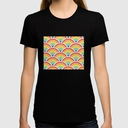 Raibow seigaiha wave T-shirt