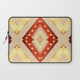 Red and Gold Diamonds Pattern Laptop Sleeve