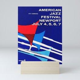 1957 Newport Jazz Festival Vintage Advertisement Poster Newport, Rhode Island Mini Art Print