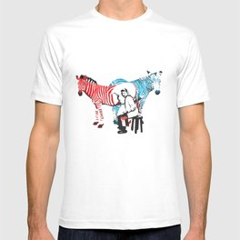Zebra Painter print T-shirt