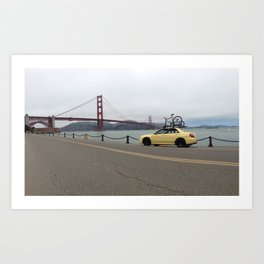 Subie on the Bay Art Print