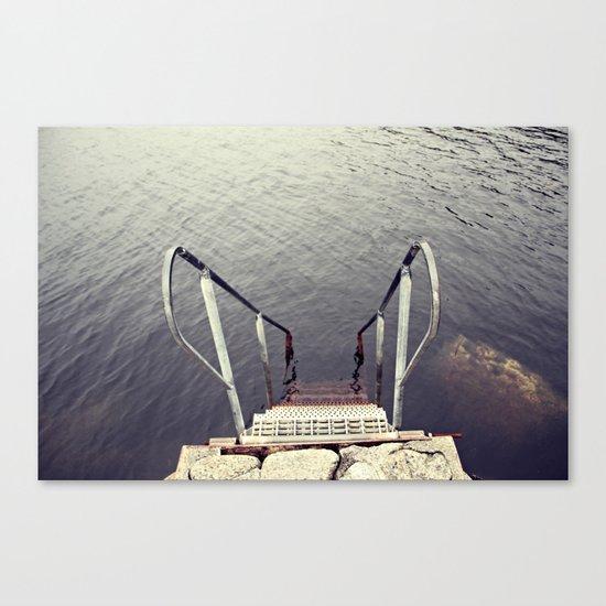 Jump, into the sea Canvas Print