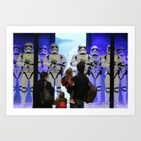 Family reunion Art Print