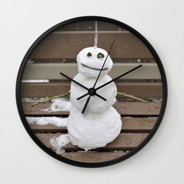 Lucky Snowman Wall Clock