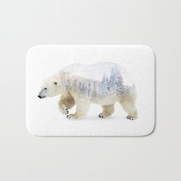 Arctic Bear Double-exposure Bath Mat