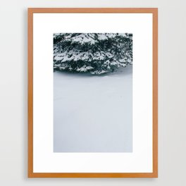 Green x White Framed Art Print