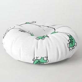 Derby Dino WHT/grn Floor Pillow
