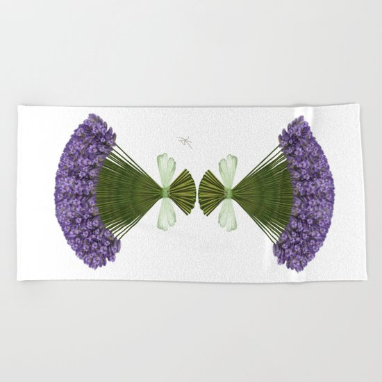 Bunch of lavender Beach Towel