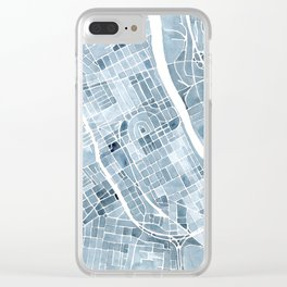 Map Nashville Tennessee Blueprint City Map Clear iPhone Case