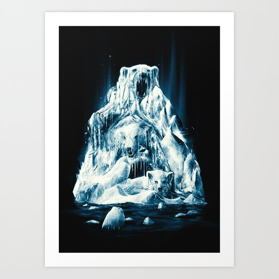 Melting Icebears Art Print