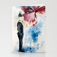 magritte Stationery Cards featuring Magritte, Apple & Mermaid by Claudia Feher