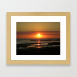 Angel Wings Sunset Framed Art Print