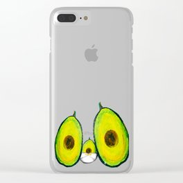 Baby Avocado we Love You Clear iPhone Case