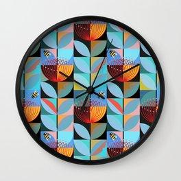 Blue Pohutukawa Wall Clock