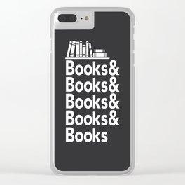 Books & Books & Books Clear iPhone Case