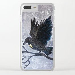 Keyhole Raven Clear iPhone Case