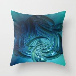 strange forms Throw Pillow