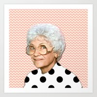 golden girls Art Prints featuring Golden Girls - Sophia by courtneeeee