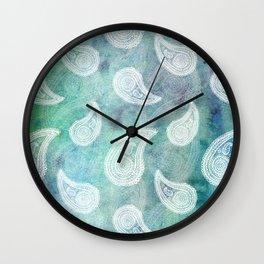 The Deep Blue Paisley Wall Clock