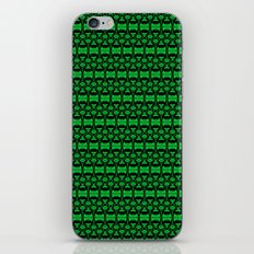 Dividers 02 in Green over Black iPhone & iPod Skin