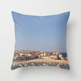 St Ives Harbour. Throw Pillow