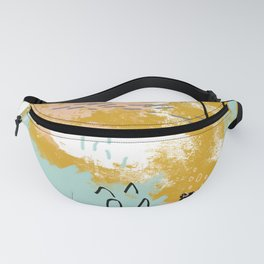 Presence of Life, Abstract Tribal Art Fanny Pack