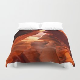 A Canyon Sculptured By Water Duvet Cover