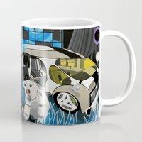 cyberpunk Mugs featuring Cyberpunk Aesthetics 3 by thomasalbany