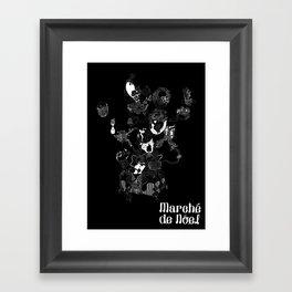 Marche black Framed Art Print