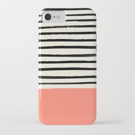 Coral x Stripes iPhone Case