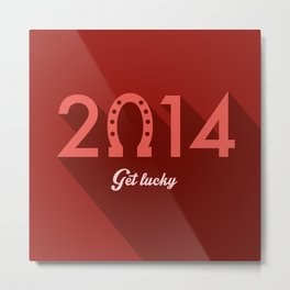 2014 Time to Get Lucky Metal Print
