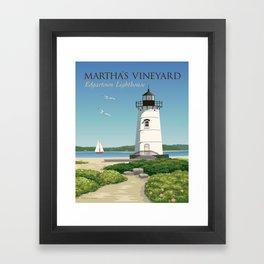 Martha's Vineyard Edgartown Lighthouse Framed Art Print