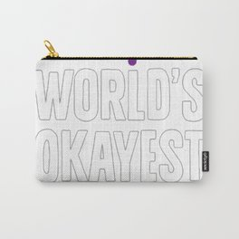 WORLD'S OKAYEST LESBIAN T-SHIRT Carry-All Pouch