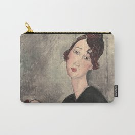 Portrait of Dedie Hayde by Amedeo Modigliani Carry-All Pouch