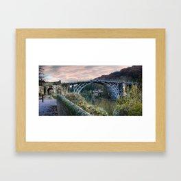 The Bridge across the Severn Gorge Framed Art Print
