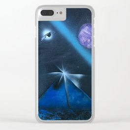 Space and Pyramids Clear iPhone Case